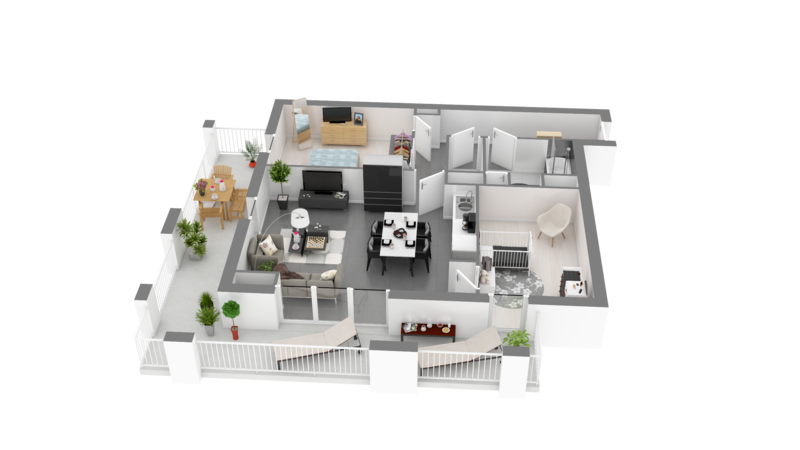 IMAGES CREATIONS LA RANCE - Arcouest_AA1_102 - Plan 3D